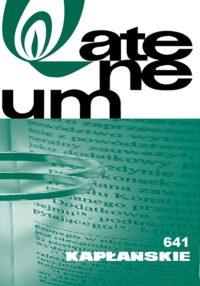 Zeszyt 1 (641) – Tom 166 – DUSZPASTERSTWO RODZIN
