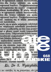 Zeszyt 1 (668) – tom 175 – Z twórczości kard. Stefana Wyszyńskiego